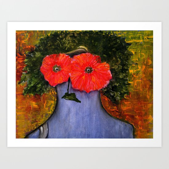 flower woman! Art Print