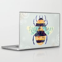 bee Laptop & iPad Skins featuring bee by Yellow Button Studio