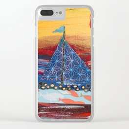Pilgrims Journey Clear iPhone Case
