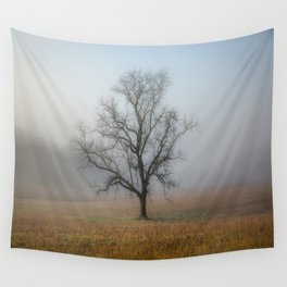 In a Fog - Mystical Morning in the Great Smoky Mountains Wall Tapestry