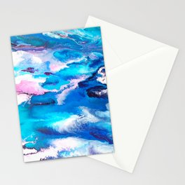Turuoise Flow Stationery Cards