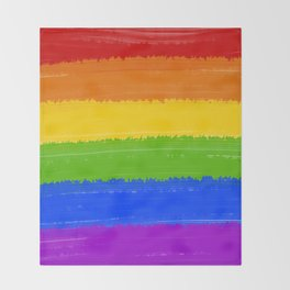 Rainbow Pride Flag Throw Blanket