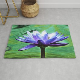 Purple Water Lily Rug