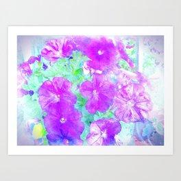 Watercolor Petunias Art Print