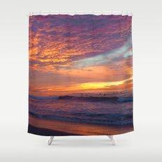 Pink Sunset Shower Curtain
