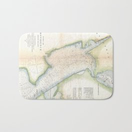 Vintage Port of Providence Rhode Island Map (1865) Bath Mat