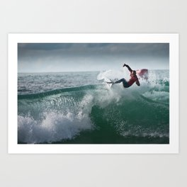 Legend & Pro Surfer Kelly Slater, France, 2013 Art Print