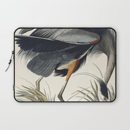 Great blue Heron from Birds of America (1827) by John James Audubon etched by William Home Lizars Laptop Sleeve