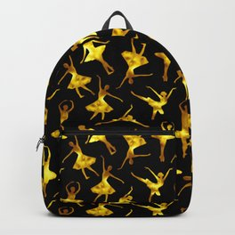 Watercolor Ballerinas (Black and Yellow) Backpack