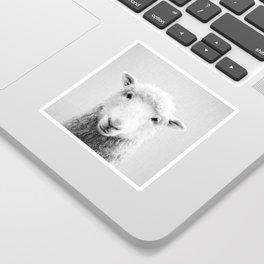 Sheep - Black & White Sticker