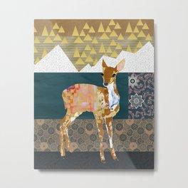 Fawn Collage  Metal Print
