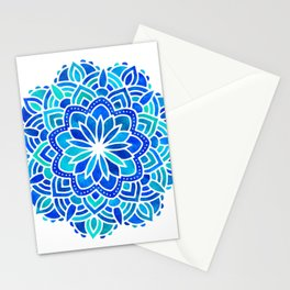 Mandala Iridescent Blue Green Stationery Cards