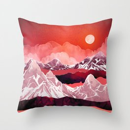 Scarlet Glow Throw Pillow