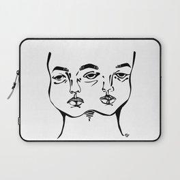 Tumblr 3 eyed twin girl Laptop Sleeve