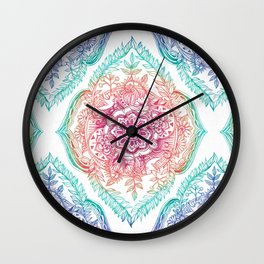 Indian Ink - Rainbow version Wall Clock