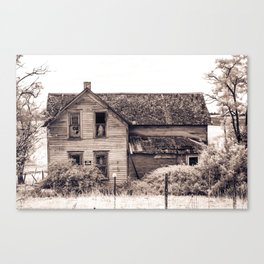 Skeleton In The Haunted House, Idaho Canvas Print