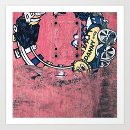 Danny Way, H-Street, Train, 1990 Art Print