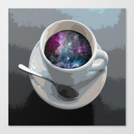 galaxy coffee Canvas Print