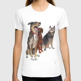 watercolor dog vol2 Pointer, Coonhound, Alaskan T-shirt