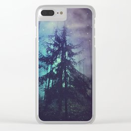 luminous forest Clear iPhone Case