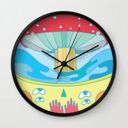 Happy fungus Wall Clock