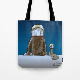 The universe, time and a squirrel Tote Bag