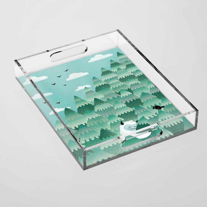 Tree Hugger (Spring & Summer version) Acrylic Tray