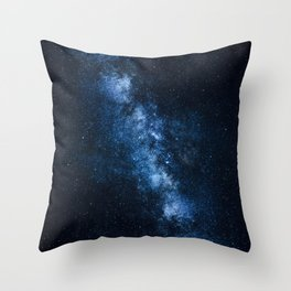 Cobalt Milky Way Throw Pillow