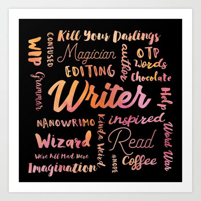 Writer Words Art Print
