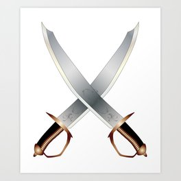 Crossed Cutlasses Art Print