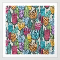 tulips Art Prints featuring tulips by Sharon Turner