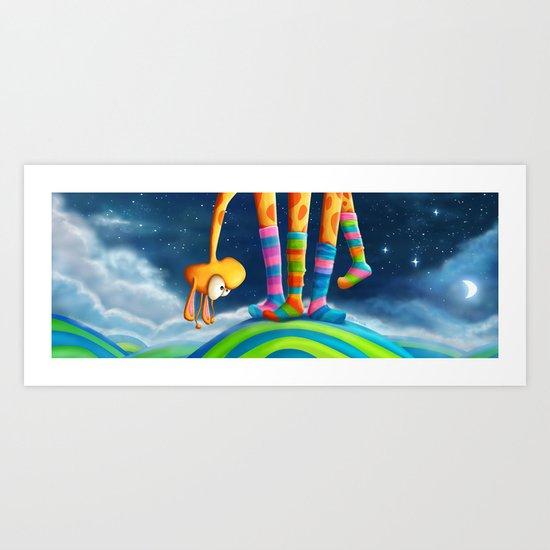 Striped Socks - Revisited Art Print