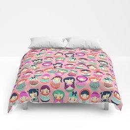 Babushka Russian doll pattern Comforters