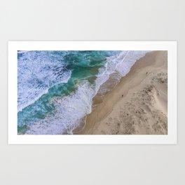Newcastle Beach NSW Art Print