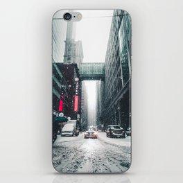 New york under the snow iPhone Skin