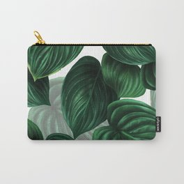 tropical green pattern Carry-All Pouch