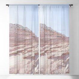 Zion Rocks Sheer Curtain