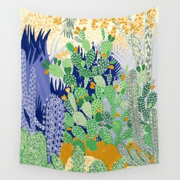 Cactus Lover's Garden Wall Tapestry