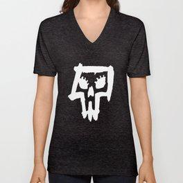 Sexy Skull - White Unisex V-Neck