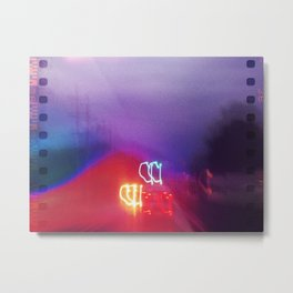 Light Traffic Metal Print