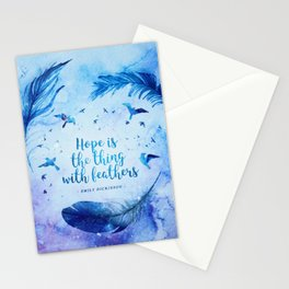 Hope is the thing with feathers Stationery Cards