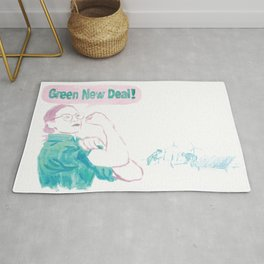 AOC's Green New Deal! Rug