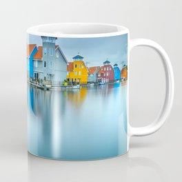 Blue Morning at Waters Edge Groningen Netherlands Europe Coastal Landscape Photograph Coffee Mug