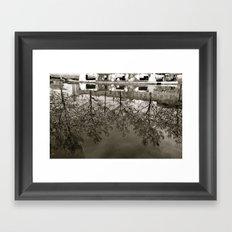 Upsidedown Machester Framed Art Print