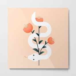 There's a Snake in my Bouquet Metal Print