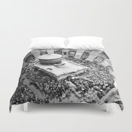 Holy fire ceremony seen from the dome Duvet Cover