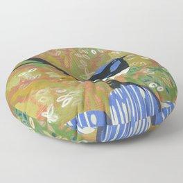Superb Fairy Wren Floor Pillow