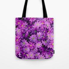 Purple Wild Flowers Tote Bag