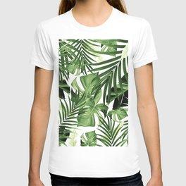Tropical Jungle Leaves Pattern #12 #tropical #decor #art #society6 T-Shirt