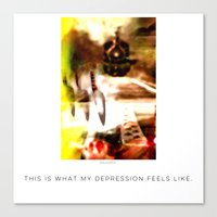 depression Canvas Prints featuring Depression by Davs